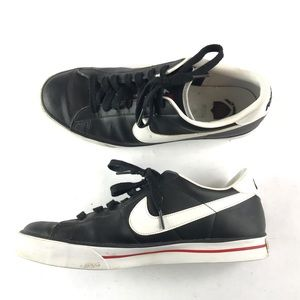 the latest 4cf70 b19a5 2010 Mens Nike Sweet Classic Black Leather Shoes